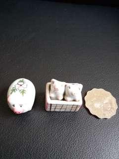 手造瓷小豬家庭