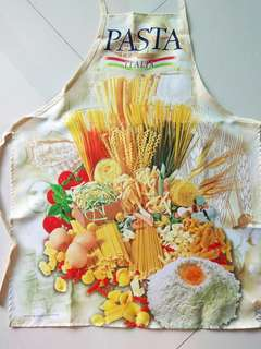Pasta themed apron collectible