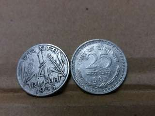Old Coin of India (2pcs)