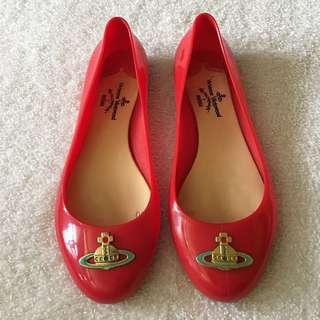 VIVIENNE WESTWOOD BY MELISSA JELLY FLATS ( not authentic )