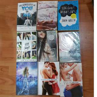 Assorted YA BOOKS