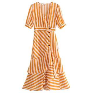 Ginger awning short sleeves summer dress