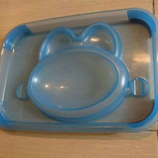 Easy Clean Up Feeding Plate/ Tray with Compartments