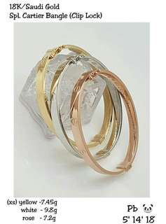 (XS) branded pure gold gold bangle