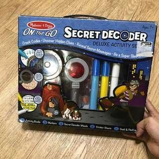 Melissa and Doug Secret Encodee Deluxe Activity Set