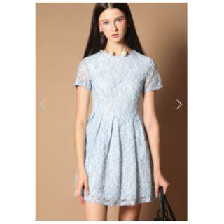 The Stage Walk - Sky Blue lace Dress