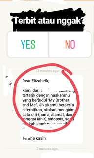 Proses Terbit, My Brother and Me from Wattpad