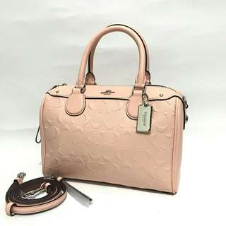 Coach Mini Bennett Debossed Light Pink