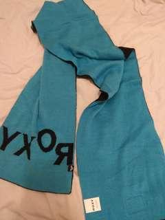 全新~Roxy Navy 頸巾 (雙面)