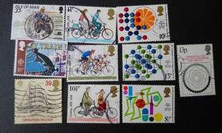 已蓋銷英國郵票(E)