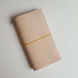 Traveler Notebook Set - Pink Waxed Leather