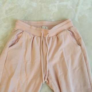 Pastel Pink soft sweatpants size XS