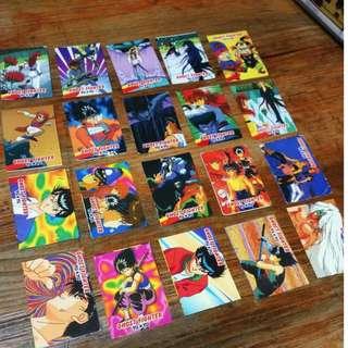 Yuyu Hakusho Ghostfighter teks cards SET C