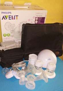 Avent double electric breast pump with bag