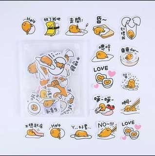 Instock - Gudetama stickers