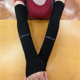 🚚 Plain Color Aqua Arm Sleeve Ice Silk Sleeve