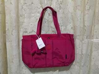 Kipling Bag (Fashion Woman's Nylon waterproof Shoulder bag (PINK)