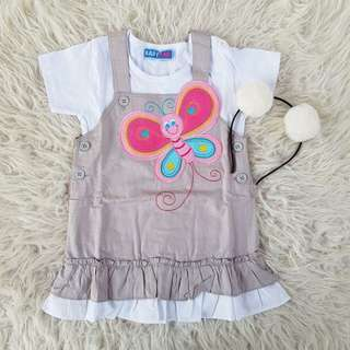 Cute Baby Butterfly + Cute Overall