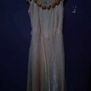Long dress warna salem