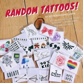 SALE! Temporary Tattoos!✨