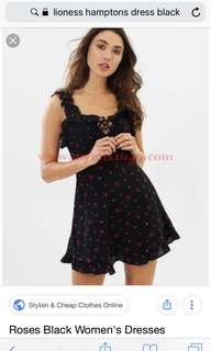 Lioness mini dress rose in black