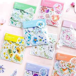 (PO) Assorted Flower Stickers