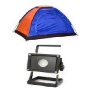 2-Person Dome Camping Tent with W803 Flood Light