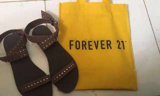 Forever21 brown sandals