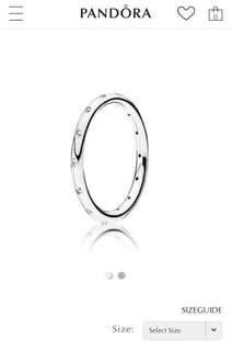 Pandora sparkling droplet ring