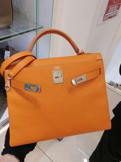 Hermes kelly 32 orange epsom