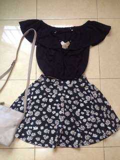 1 Set Sabrina Top and Colorbox Daisy Skirt