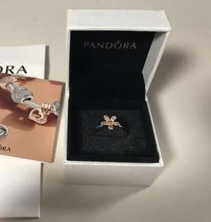 Pandora dazzling daisy rose gold ring