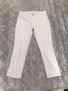 Uniqlo skinny jeans pants in off white (original)