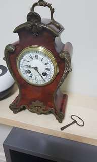 Vintage table clock dated 1889