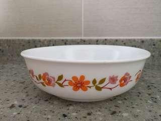 Corningware - 6 small plates (vintage floral design)
