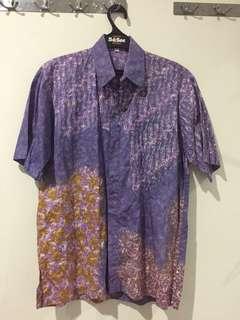 Batik Lengan Pendek Ungu