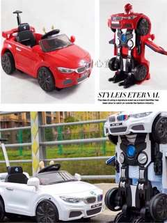 Red Robot Ride On Car Rechargeable Transformer Car
