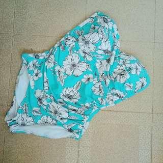 FLORAL One-Piece Bikini - Blue