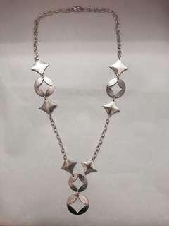Slim style silver colour necklaces