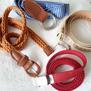 4 Belts for ladies