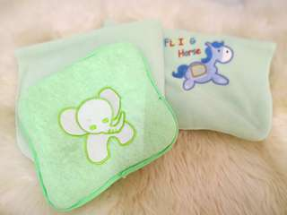 Set of baby pillow and blanket