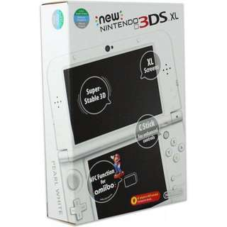 New Nintendo 3DS XL in Pearl White