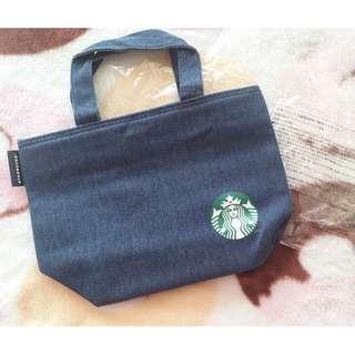 日本版 - Starbucks 星巴克2018年非賣品限定福袋商品 - 牛仔布保溫午餐手挽袋 Lunch Bag Tote Bag