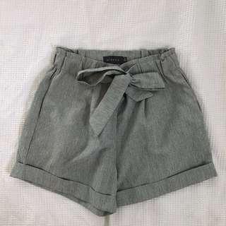 Grey highwaisted shorts