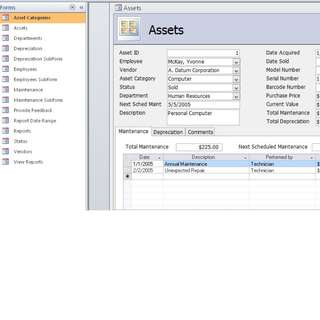 Asset Inventory tracking database in MS ACCESS