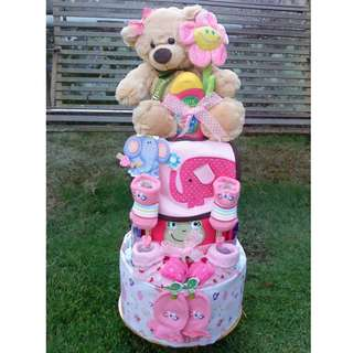 Baby Shower / Full Moon Gift - Diaper Cake