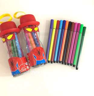 Color pen (red) - children drawing material, goodie bags, goodies bag gift