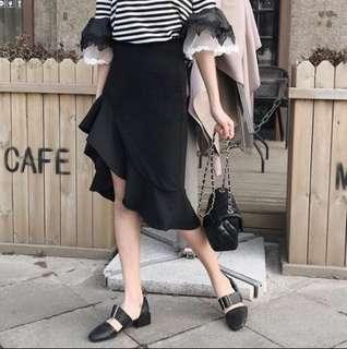 不規則修身魚尾裙