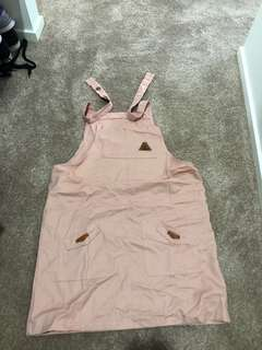 Gorgeous pink honey bee pinafore
