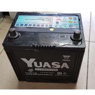 (二手中古電池) YUASA 75D23L-免保養汽車電池 數值漂亮,品項優